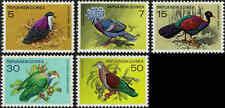 1977 PAPUA NEW GUINEA Pigeons (5) MLH