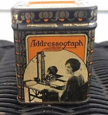 Addressograph Ribbon Tin Great Graphics Typewriter Chicago Square