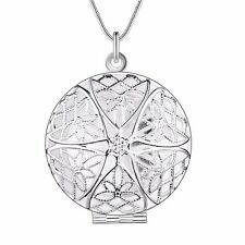 925 SILBER pl. Medallion Foto Halsketten Anhänger zum öffnen  Medaillon Talisman