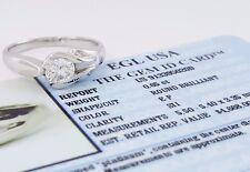 0.65 ct Platinum Round Diamond Solitaire Engagement Ring EGL E-F/ SI1 Rtl $4,668