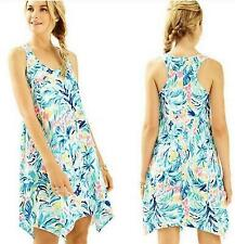 $98 NWT *Lilly Pulitzer* Melle Dress Serene Blue Tippy Top Trapeze Sundress M