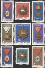 Hungría 1966 medallas/pedidos/honores/militar Decoraciones/Rojo Banner 9v Set n45434