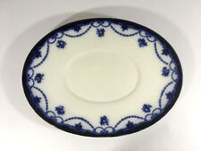 Vintage Bishop & Stonier Bisto Oval Underplate/Meat Plate Platter Flow Blue