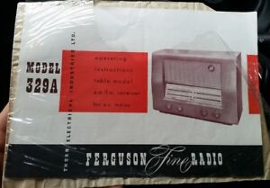 Owners instructions booklet manual pamphlet 4 Ferguson 329A valve radio wireless