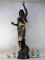 SCULPTURE LADY BRONZE 134cm naked Émile Louis Picault 1800 LIBERTY 45000€ s DECO