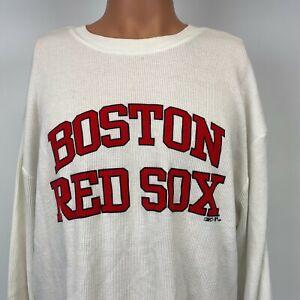 Reebok Boston Red Sox Thermal Sweatshirt MLB Baseball White 2007 Size XL