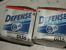 Two Vintage OLD STOCK DEFENSE spin on OIL FILTERs #DL16, DL5571; FAST SHIPPING