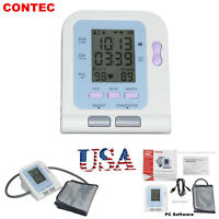 CONTEC Digital blood pressure Monitor Upper Arm NIBP Adult Cuff+Software,US FDA