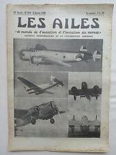 AILES 1938 864 FOKKER T-5 BISCAROSSE TURBOCOMPRESSEUR POTEZ 661 662 AXE DAYTON