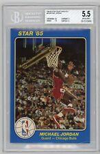 1984-85 STAR Basketball Court Kings 5x7 Michael Jordan Rookie RC #26 BGS 5.5