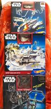 Hot Wheels Star Wars 3 NIB Sets: Die Cast Tie-Fighter, Snowspeeder, Ghost Ship