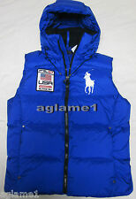 NWT Polo Ralph Lauren Big Pony Down Vest Puffer Ski Alpine Logo Blue  Medium M