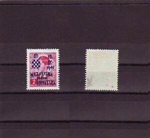 Croatia NDH 1941..jubilee stamp 2 din..signed...MH*!!!9671