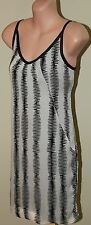 Womens Stunning Black and Cream Dress - Cue - Size 6