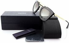 $550 NEW PRADA CINEMA Collection Black Gold Sunglasses SPR 09Q 1AB0A7 PR 09QS