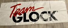 New listing Official Factory Team Glock Pistol Banner 2' x 5' - Very Good Condition!