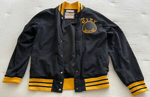 Authentic Golden State Warriors Mitchell And Ness The City Jacket medium M &