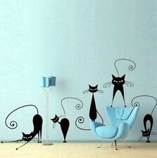 Cat Wall Stickers Vinyl DIY Decals Group Design For Living Room and Bedroom