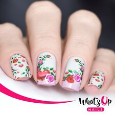 P070 Blooming Love Water Decals Sliders for Nail Art Design