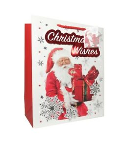 3 Gift Bags Extra Large Portrait SANTA 305 x 379 x 202mm