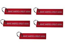 Pack of 5 Make America Great Again Trump MAGA Red/White Luggage Tag Keychain