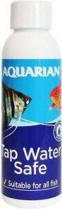 AQUARIAN TAP WATER SAFE, Aquarium Water Conditioner, 118 ml Bottle