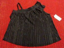New With Tags Jennie & Marlis Womens X Large Black 100% Polyester Shirt Top