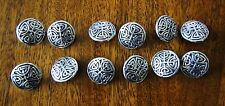 """10 NEW INTRICATE CELTIC KNOT DESIGN METAL BUTTONS SILVER 5/8"""" METAL SHANK"""