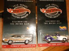 HOT WHEELS LIMITED EDITION LOT OF 2, 13 TH COLLECTORS ROADRUNNER GTX & 46 FORD