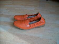 CAPRICE Damenschuhe Slipper-Schuhe  Ballerina Gr.6,5- 40 Leder orange, TOP!