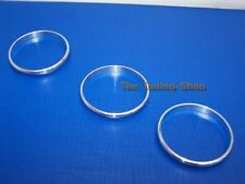 For VW Golf MK6 08-13 Chrome Rings Trim Surrounds for Manual Heater Controls x3