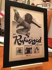 "FRAMED ORIGINAL RUFUS featuring CHAKA KAHN ""RUFUSIZED"" LP ALBUM CD PROMO AD"