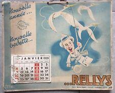 Ancien CALENDRIER GRAY-FILM 1939 Rellys dessin de Loys, Cigogne *