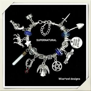 SUPERNATURAL CHARM BRACELET 13TH 16TH 18TH 21ST 30TH BIRTHDAY GIFT. GIFT BOXED