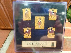 1996 Atlanta Olympic Pins The Equestrian Event of Dressage Set of 5 GIHP