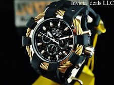Invicta Men's 48mm Bolt Sport Chrono Black Carbon Fiber DL Gold Ropes SS Watch