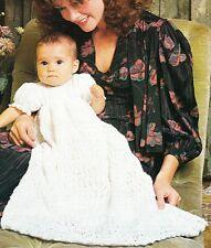 CHRISTENING - DRESS & JACKET / 2ply - COPY baby knitting pattern