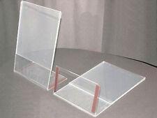 10 DIN A5 AUFSTELLER GEBRAUCHT PLEXI PREISSCHILDER M. MAGNETSTREIFEN MAGNET GLAS