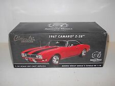 Ertl 1:18 Diecast AUTHENTICS - 1967 CAMARO Z-28 - RED/BLACK MIB