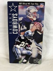 Dallas Cowboys 1997 Yearbook NFL Films VHS tape Video Emmitt Smith Aikman Irvin