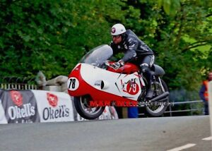 Limited  edition Michael Dunlop A3 photo  on the Bob McIntyre Gilera tribute lap