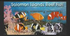 2001 Reef Fish Mini sheet Complete MUH/MNH as issued