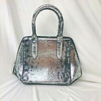 NWOT 395$ Halston Heritage Small Shoulder Bag  Silver Metallic 100% leather