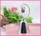 120 Silver Ringing Wedding Table Kissing Bell Name Card Holder Wedding bombonere
