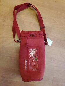 """Picnic At Ascot Insulated Wine Bottle Carrier Tote Bag  Burgundy 11"""""""