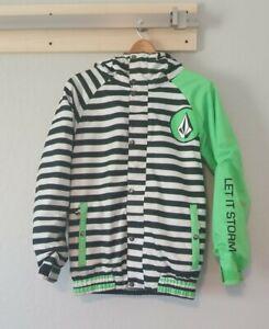 Volcom Snowboard Ski Jacket Let it Storm Youth Unisex Large (12Y) Bright Green
