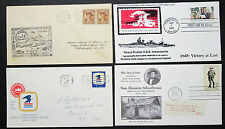 US Postage Set of 4 Covers Heavy Cruiser Indianapolis FDC USA Briefe (H-8351