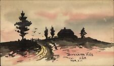 Pittsfield Ma Cancel - Berkshire Hills Hand Made Painted 1911 Postcard