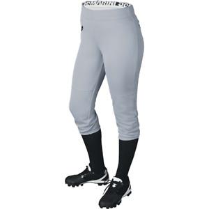 Demarini Women's Sleek Softball Pant Gray Lg