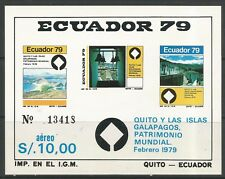 stamps-ecuador. 1997. Galapagos Îles MINIATURE feuille Sg:ms1747. MNH